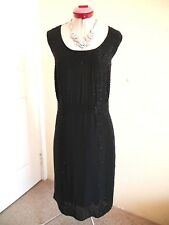 AUTOGRAPH Black Beaded Cocktail DRESS Size 22 BNWT NEW Evening Party Shift 20's