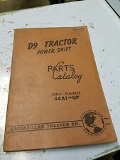 CATERPILLAR PARTS CATALOG D9 TRACTOR POWER SHIFT 1960