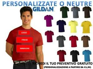 T-SHIRT MAGLIETTA UOMO GILDAN GL5000 HEAVY T-SHIRT COTONE 100% PERSONALIZZABILE