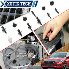 350x Car Universal Body Hole Push Pin Rivet Fasteners Kit For Honda Civic Accord
