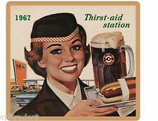 A&W Soda Root Beer 1967 Refrigerator / Tool Box Magnet Man Cave Gift Card Insert