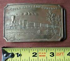 Wells Fargo and Company Brass Belt Buckle Locomotive Shot Gun Made in England