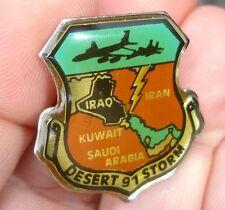 scarce BOMBER PLANE 1991 Desert Storm vintage lapel air force pin AF IRAQ KUWAIT