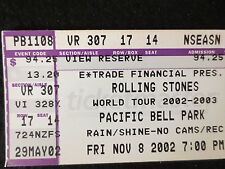 """ROLLING STONE"""" WORLD TOUR 2002-03"""" CONCERT AT PAC BELL PK 11/8/02 TICKET STUB"""