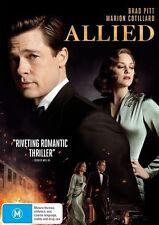 Allied - Pitt and Cotillard - DVD - New
