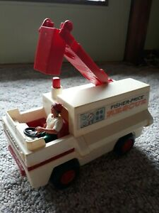 1974 Fisher Price Adventure People Rescue Truck #303 with  Figure