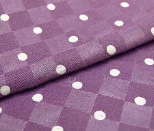 Cotton Purple Shirting Fabric 44 Inches Wide Polka Dot Print Fabrics By 1 Metre