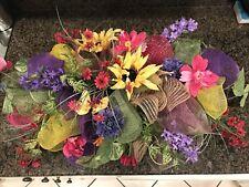 "Floral Centerpiece Swag Table Runner Lantern Topper Handmade 29 "" Retail $99"