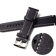Womens Leather Watch Strap Band Mens Stainless Steel Buckle 18 19 20 21 22MM O