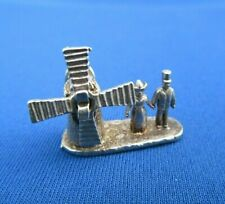 VINTAGE STERLING SILVER CHARM DUTCH WINDMILL HOUSE SAIL MOVES 4.6 g