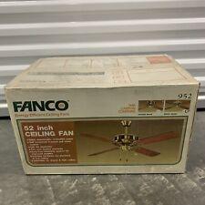 """Vintage 52"""" Fanco 952 Fan Bright Brass Wood - BRAND NEW SEALED"""