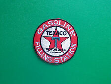 MOTOR RACING OILS, FUELS & TYRES SEW ON / IRON ON PATCH:- TEXACO (c) GASOLINE