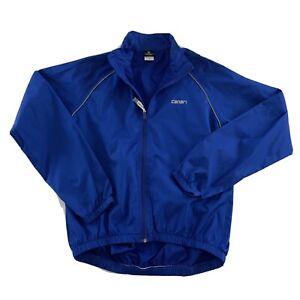 Canari Long Sleeve Full Zip Cycling Jacket  Men's M 100% Polyester Blue