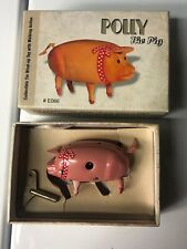 Polly The Pig Wind Up Toy RARE With Walking Action Key Included Original BOX👍🏼