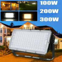 100W 200W 300W LED Flood Light Waterproof Outdoor Security Light Cool White IP65