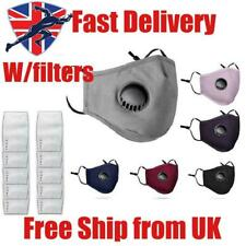 Washable Face Mask Reusable Filters Masks PM2.5 with Filter Activated Carbon UK