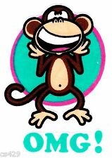 "3"" BOBBY JACK MONKEY TEXT ME OMG WALL SAFE FABRIC DECAL CHARACTER CUT OUT"