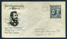 First Day Cover. Canada #274 March 3, 1947 100th Anniv. Alexander Graham Bell