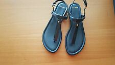 Cole Haan NIB boardwalk thong sandals navy blue flats shoes US 6.5