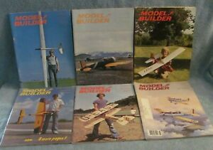 Model Builder Magazine - Radio Controlled Airplanes - 6 Issues 1973, 1974, 1984