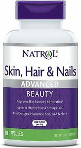Natrol Skin, Hair and Nails Advanced Beauty Capsules, 60 Count (Pack of 1)