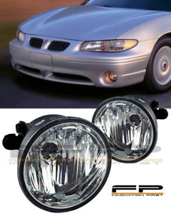 1997-2003 Pontiac Grand Prix Clear Replacement Fog Lights Housing Assembly PAIR