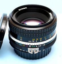 Nikon Nikkor 50mm f/1.8 Ai Manual Focus Prime Lens Classic