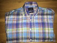 Men's Hackett Shirt Size L/XL. 100% Linen. Long Sleeve. Excellent Condition