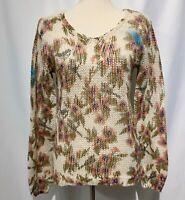 Lauren Conrad Disney Snow White Women's Sweater Size XS Open Weave Silver Thread