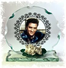 Elvis Presley, Burning Love , Cut Glass Round Plaque, Limited  Edition #1