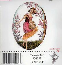 NEW doveart CC DESIGNS cling Rubber Stamp FLOWER GIRL   free USA ship