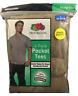 4,8,12 Men's Fruit Of The Loom 4 pk Pocket S/S Tee Shirt Khaki Green Size Large