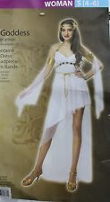 GREEK GODDESS COSTUME Adult Small Sexy White Halloween Athena Aphrodite Love NEW