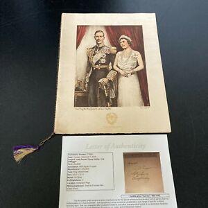 1939 King George & Queen Elizabeth Banquet Program Signed By Joe Dimaggio JSA