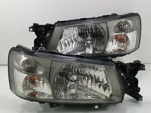 Subaru Forester SG5 SG9 STi OEM ICHIKO HID SMOKE Front Headlight Lamp JDM WRX