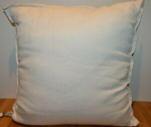 """NEW Threshold 100% Linin Cream/Beige 18"""" x 18"""" Toss Accent Pillow"""