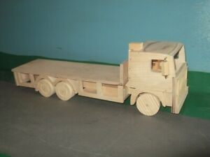 1:24th Scale Volvo F 6x4 Rigid Flatbed Wooden Model Truck