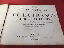 PETIT ATLAS ILLUSTRE LA FRANCE ET SES COLONIES 100 CARTES PAR V. MONIN 1833