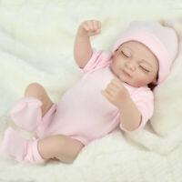 26-28CM  Reborn Baby Puppe Silikon Vinyl Lifelike Dolls Handgefertigte