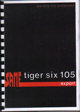 "SAME ""Tiger Six 105"" Export Tractor Operating and Maintenance Manual Book"