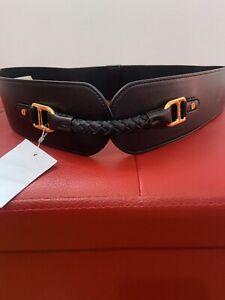 Ralph Lauren Ladies Black Elasticated Dressing Belt Size L BNWT