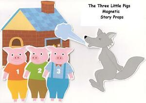 THREE LITTLE PIGS MAGNETIC STORY PROPS – Teacher Resource