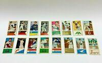 Vintage Japanese Baseball Rare Menko Card 16 piece set