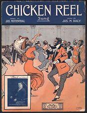 Chicken Reel 1911 Large Format Sheet Music