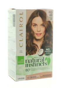 CLAIROL NATURAL INSTINCTS SEMI-PERMANENT HAIR COLOR 6G LIGHT GOLDEN BROWN