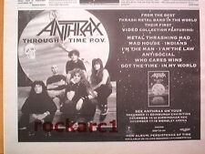 ANTHRAX Through time  UK Press ADVERT 12x8 inches