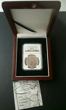 2014 Great Britain 2 Pound 1oz Silver Britannia Lunar Horse Mule NGC MS69 PL