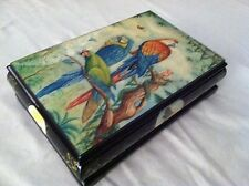 Reuge Designed Hand Painted by St.Peterburg Academy of Art Box - Parrots