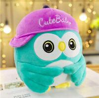 Funny Owl Stuffed Animal Owl Green Cartoon Animal Plush Doll Toy For Kids 35cm
