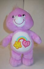 "CARE BEAR ""BEST FRIEND BEAR"" 8 1/2"" ORCHID PLUSH, RAINBOW BELLY, 2004, GOOD!"